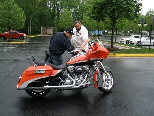 his 2009 Road Glide from