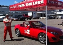 Ted Cahall and his MX-5 Cup Car