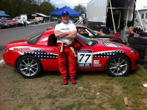 Ted Cahall and his MX-5 Race Car